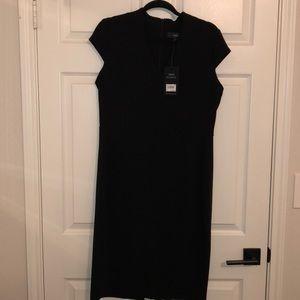 NEXT Career Dress Black Professional V-Neck NWT